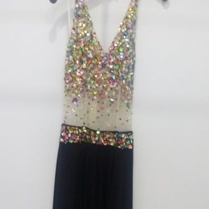 Black prom or party dress